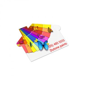 AD Labels 70x50mm – House Shaped