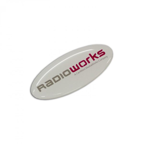 Resin Coated Labels 55x24mm - Oval