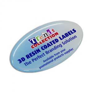 Resin Coated Labels 74x43mm Oval