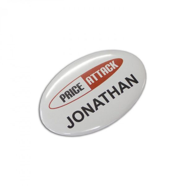 Button Badge Oval - 65x45mm