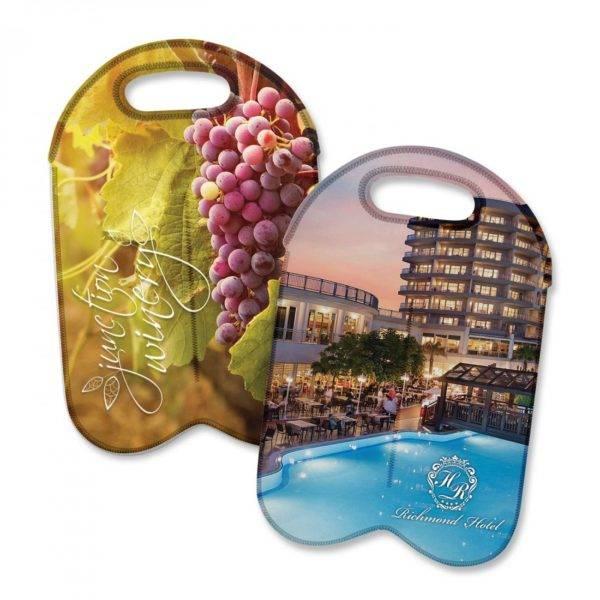 Neoprene Double Wine Cooler Bag - Full Colour
