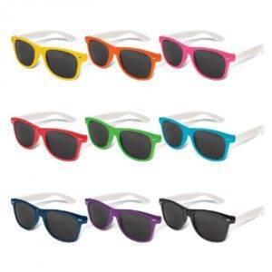 Malibu Premium Sunglasses – White Arms