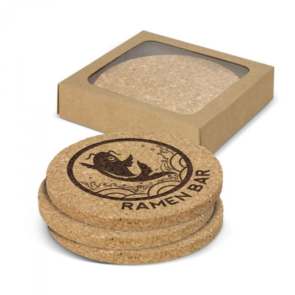 Oakridge Cork Coaster Round Set of 4