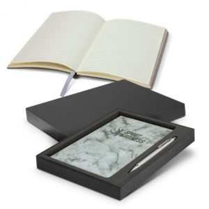 Marble Notebook and Pen Gift Set