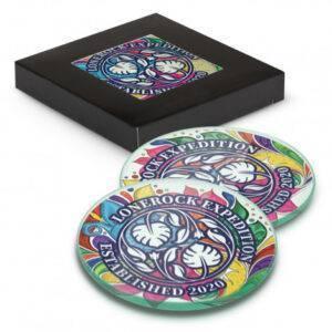 Venice Glass Coaster Set of 2 Round – Full Colour